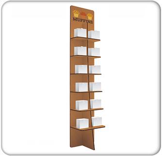 premium pop 6-tier slanted rectangle floor display kit product