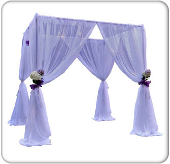 wedding canopy kit with whtie drapes
