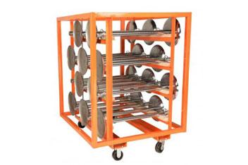 Large Stanchion Cart