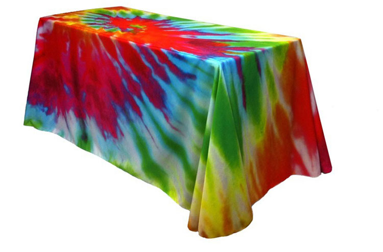 "5' x 30"" Wide Full Coverage Poly Poplin Full Color Table Throw Cover"