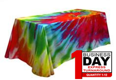 full color poly poplin table cover