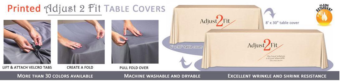 Wyndham Printed Adjust-2-Fit Table Covers