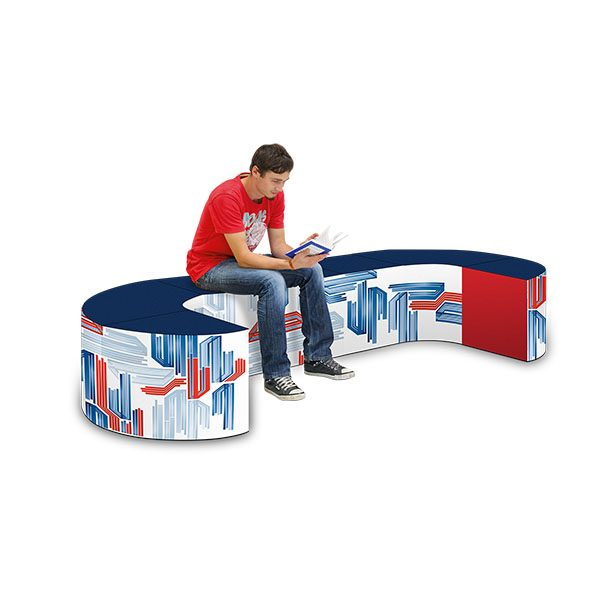 Portable Trade Show Furniture Display Foam Set - The Swirl