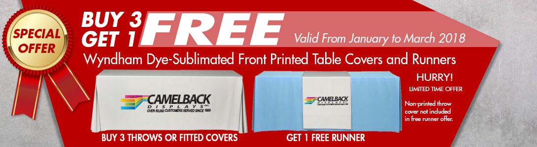 table throws special offer