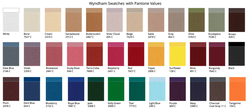 Wyndham Fabric Colors