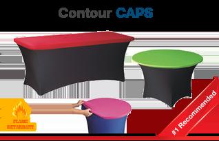 Contour Table Cover Caps