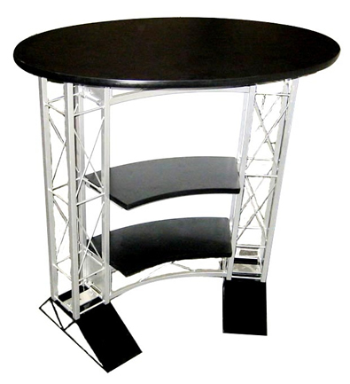 EZ6 Oval Counter Black and White Truss Display Stand