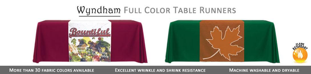 Wyndham Full Color Table Runners