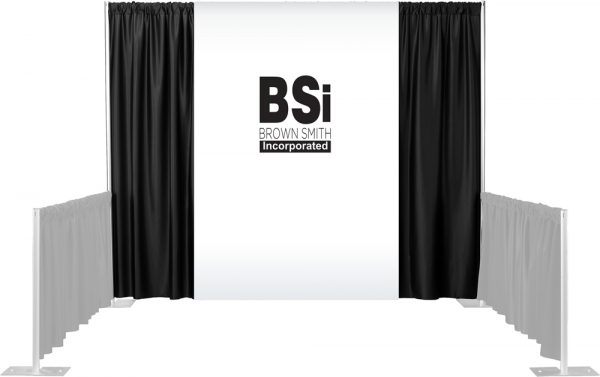 1 Color Maxi-Print Backdrop Drapes Set