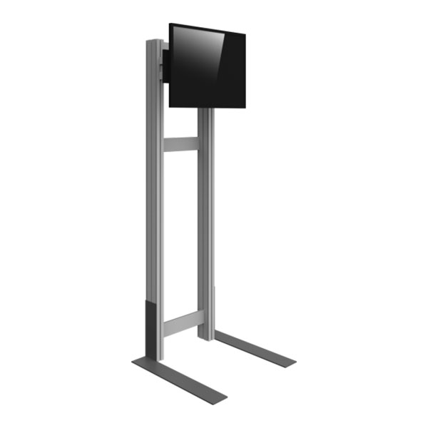 Freestanding Monitor Kiosk Side View