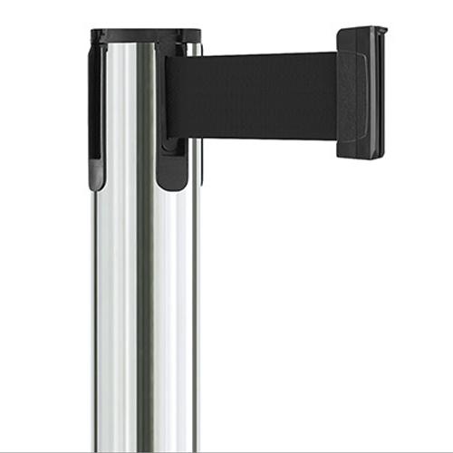 Contempo Retractable Belt Stanchion Polished Steel Belt