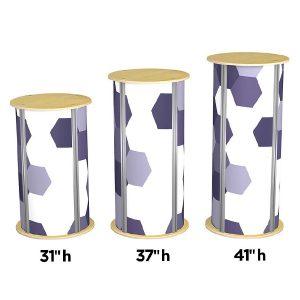 twist 4-up medium circle pedestal