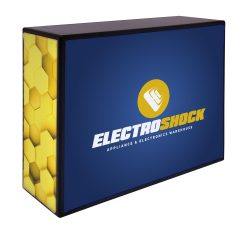 Showgoer Backlit, backlit trade show counter, showgoer back-lit counters, exhibit counters, portable trade show counters