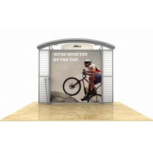 hybrid display, trade show display, tradeshow display, Timberline Slat Wall Wing Display, Timberline