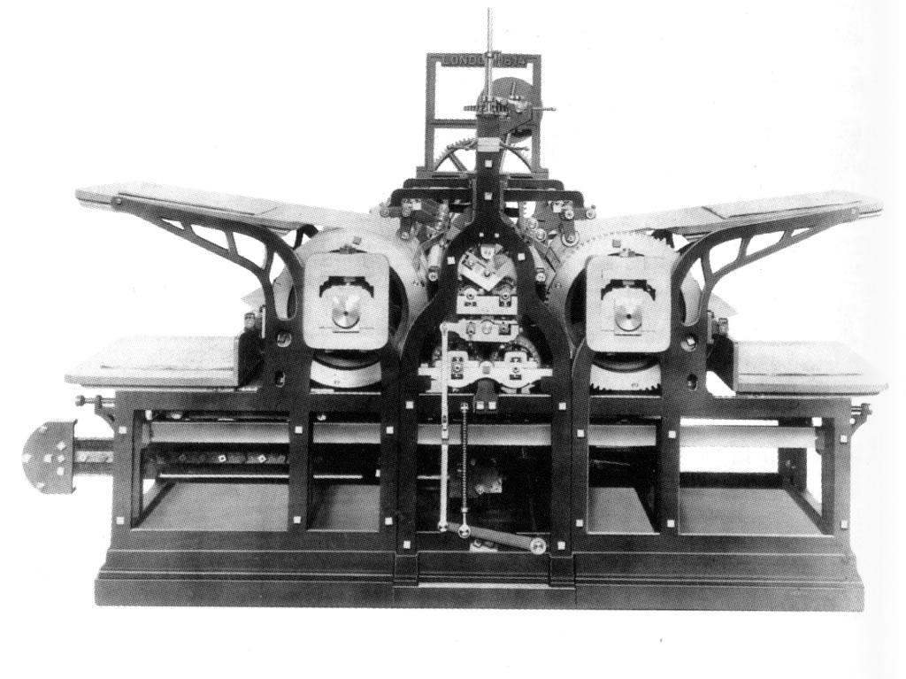 Steam driven press: The industrial revolution saw the development of bigger and faster presses