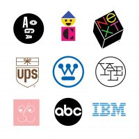Paul Rand designs: Logos and types of branding