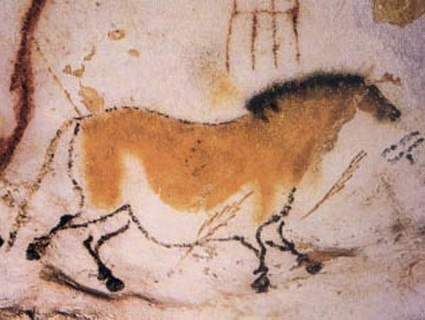 Paleolithic cave painting: Vallon-Pont-d'Arc, France 15,000-18,000 BC