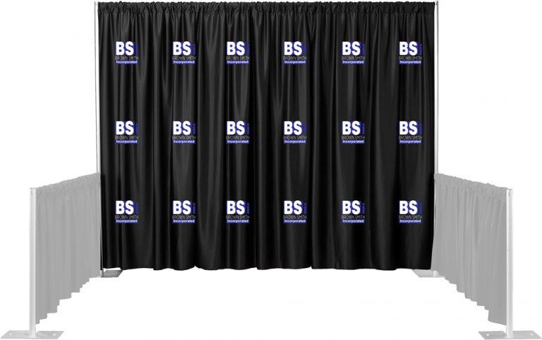 2 Color Set Multi-Print Backdrop Drape
