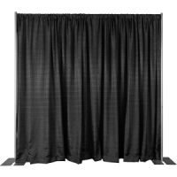 8' Black Pipe and Drape Display