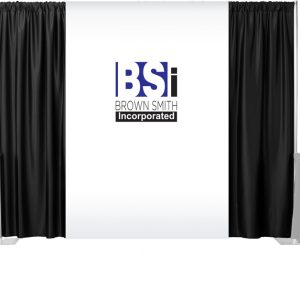 2 Color Maxi-Print Backdrop Drapes Set