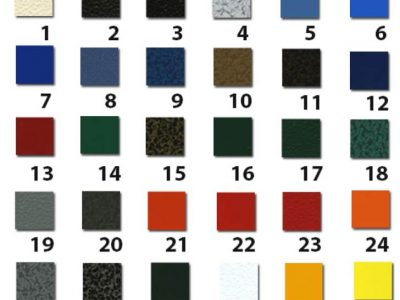 Powder Coated Color Swatch