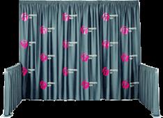 Printed Drape Booth