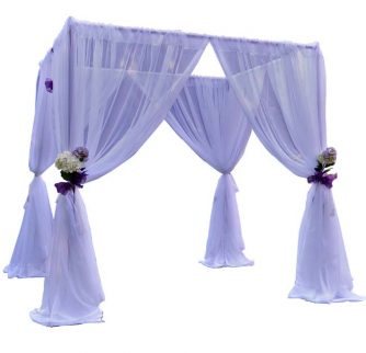wedding canopy kit with white drapes
