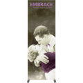 embrace 2.5ft full height push fit tension fabric display full fitted graphic center