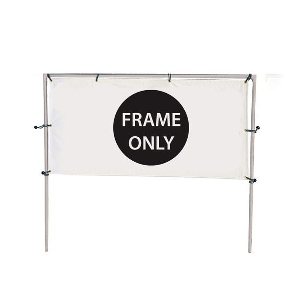 10'W x 5'H In-Ground Single Banner Hardware Only
