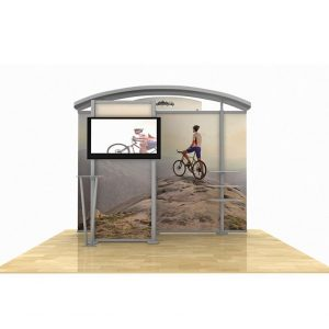 Timberline Arch Top Monitor Display with Storage Closet