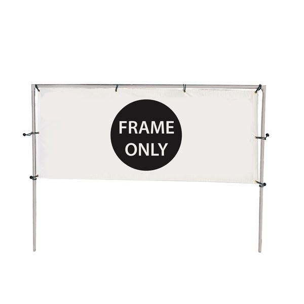 12' (W) x 5' (H) In-Ground Single Banner Hardware Only