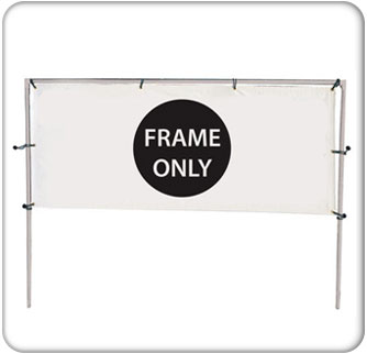 12x5 Single Banner Hardware Only