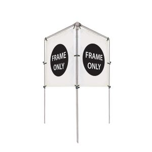 4'W x 5'H In-Ground V-Shape Banner Hardware Only