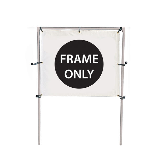 6'W x 5'H In-Ground Single Banner Hardware Only