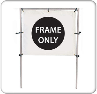 6x5 Single Banner Hardware Only