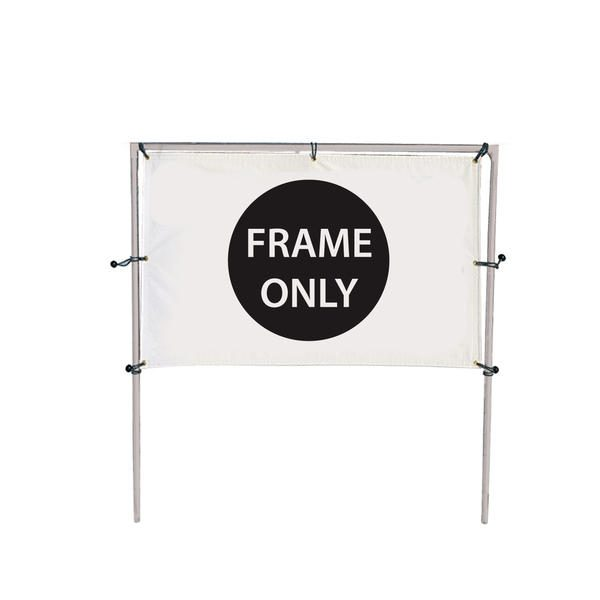8' x 5' In-ground Single Banner Hardware Only