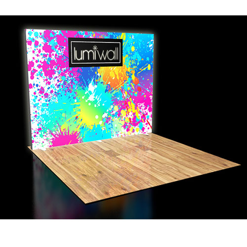 LumiWall 10' x 8' LED Backlit Printed Fabric Display