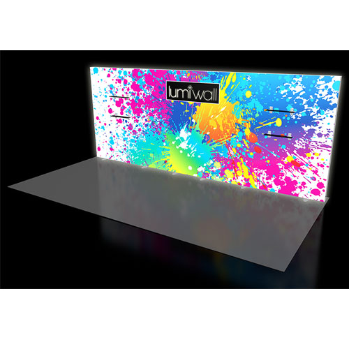 LumiWall 20' x 8' LED Backlit Fabric Display