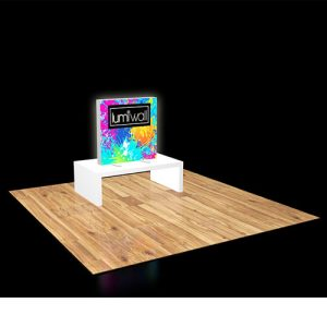 LumiWall 3' x 3' LED Backlit Printed Fabric Display