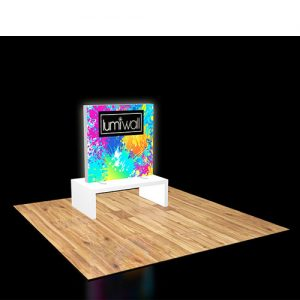 LumiWall 4' x 4' LED Backlit Printed Fabric Display