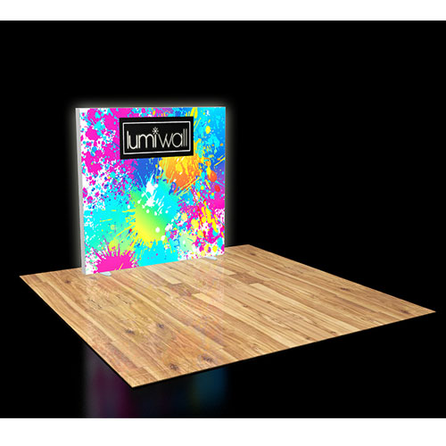 LumiWall 6' x 6' LED Backlit Printed Fabric Display