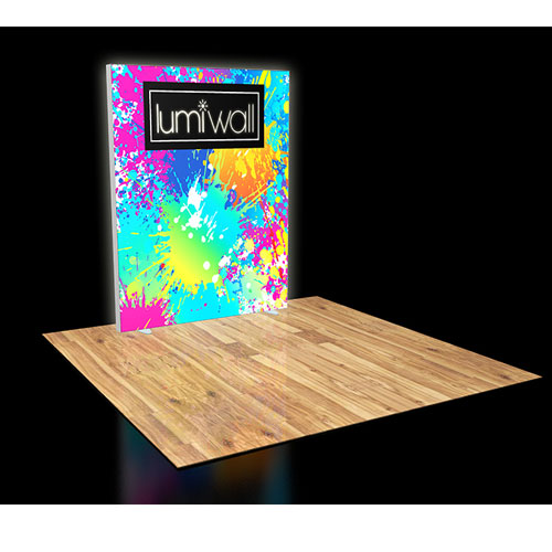LumiWall 6' x 8' LED Backlit Printed Fabric Display