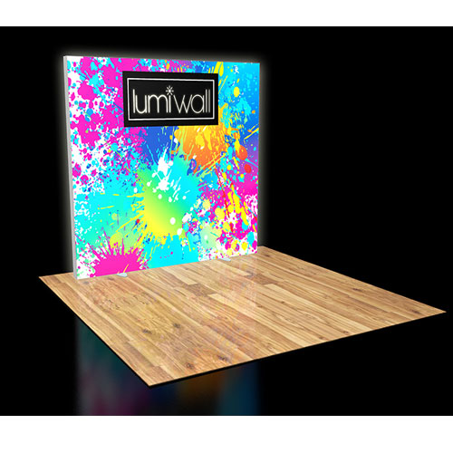 LumiWall 8' x 8' LED Backlit Printed Fabric Display