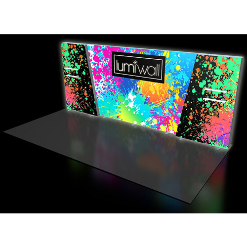 LumiWall Medium Trapezoid Accent 20' x 8' LED Backlit Fabric Display
