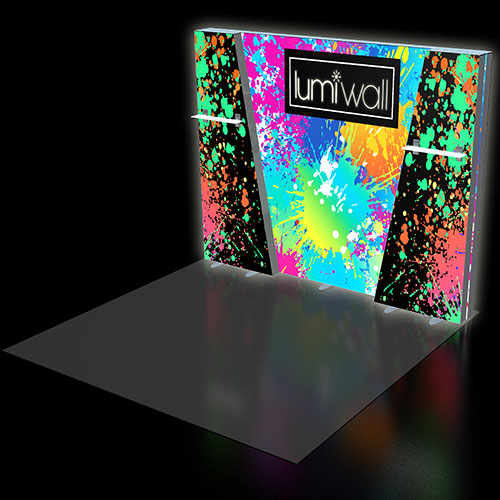 LumiWall Trapezoid 10' x 8' LED Backlit Fabric Display