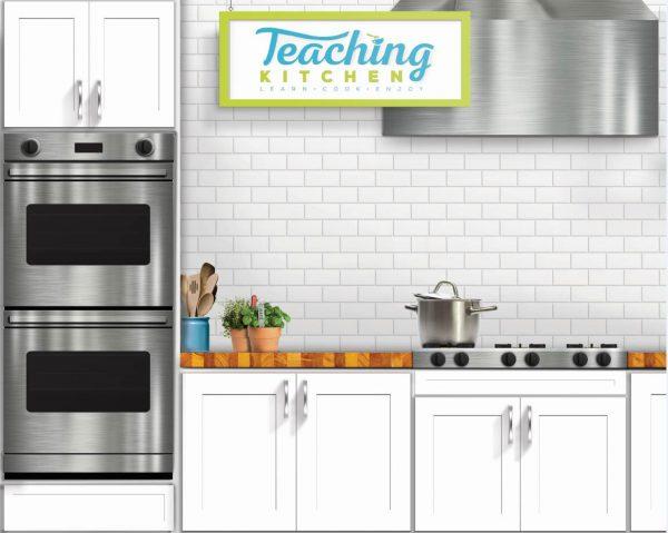 Tubozip Wave Kit Backdrop for Teaching Kitchen Display