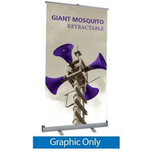 Giant Mosquito Retractable Banner Stand Graphic