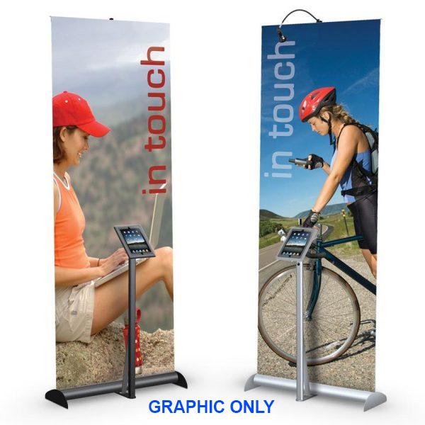 Hybrid Pro iPad Mercury Retractable Display Stand Graphic