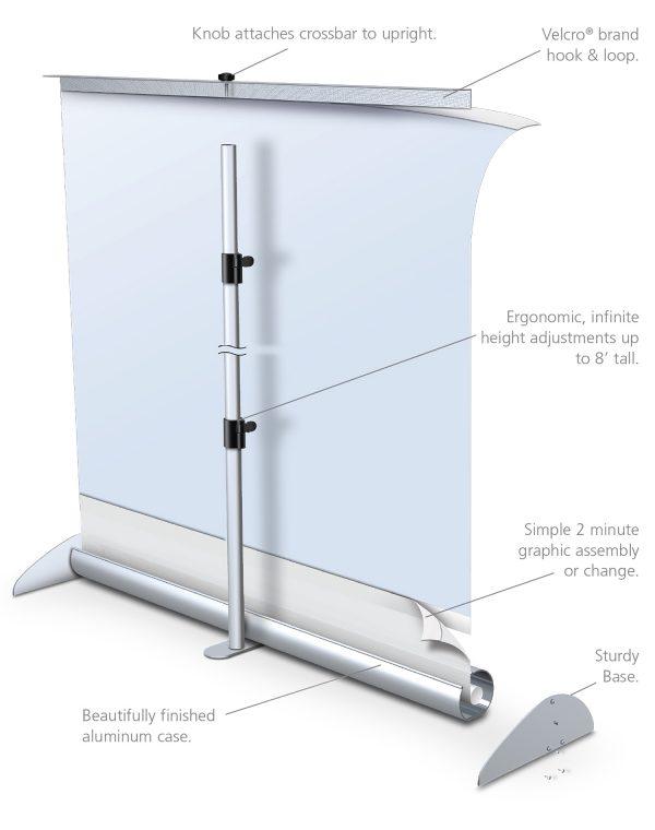 Mercury Retractable Banner Stand Hardware