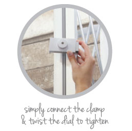 twist the dial to tighten the clamp